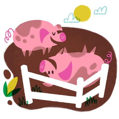 pigs-in-mud