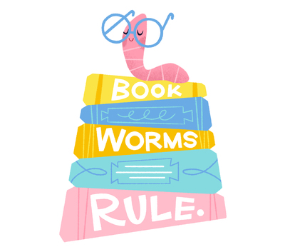 lettering-book-worms-rule