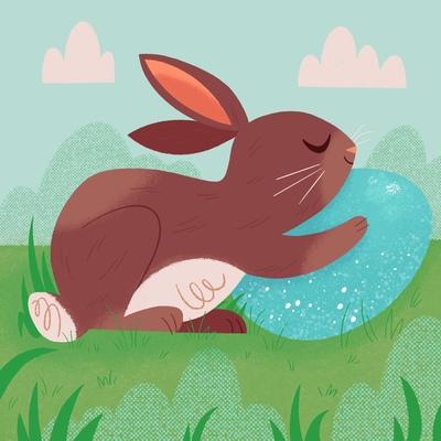 bunny-hugging-egg