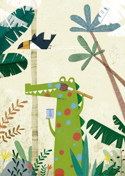 cocodrile-jungle-plants