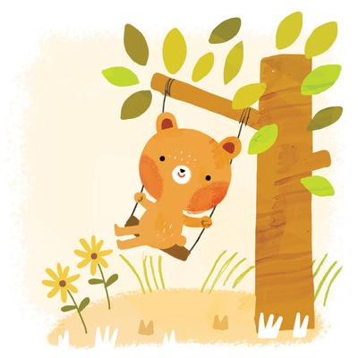 bear-on-swing