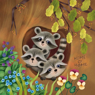 racoon-family