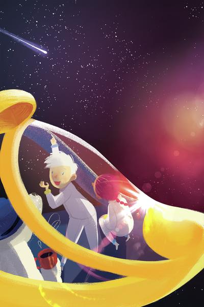 01-comet-red-galaxy-yellow-spaceship-kids-astronauts-bear-jpg