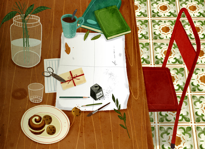 table-chair-books-plant-ink-jpg