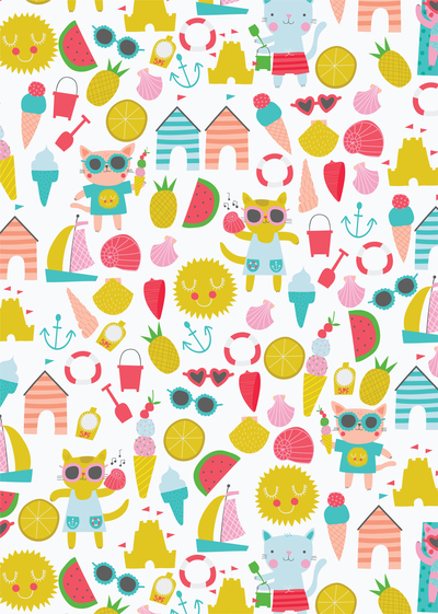 ap-cat-character-childrens-juvenile-holiday-icecream-beach-pattern-01-jpg