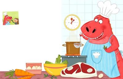 dinosaur-cooking-chef-fun-jpeg