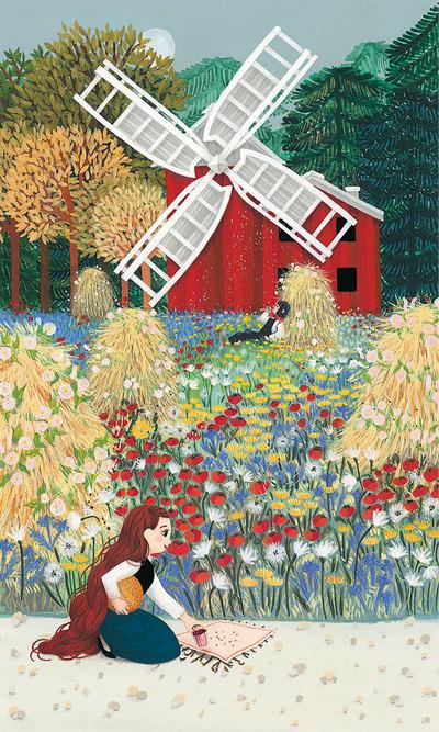 windmill-field-bails-miller-flowers-girl-jpg