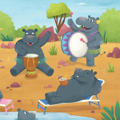 drum-roll-hippos