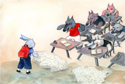 3-childrens-book-illustration-bunny-wolves-school-jpg