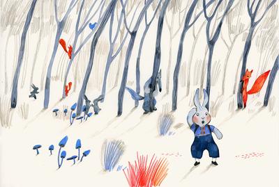 1-childrens-book-illustration-bunny-wolves-fox-forest-jpg