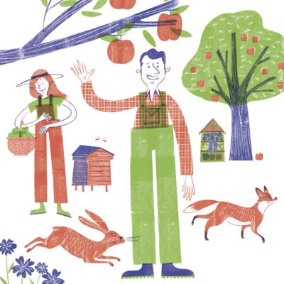 fruit-apple-tree-farmer-animals-mez-clark-png